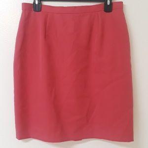 J. Crew salmon colored pencil career skirt
